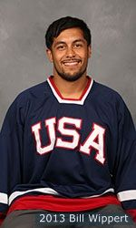 Retired Army Staff Sergeant Rico Roman had his left leg amputated above the knee when wounded by an improvised explosive device (IED) while serving his third tour in Iraq in Feb. 2007. He was a member of the San Antonio Rampage sled hockey club, which is made up entirely of military veterans, from 2009-11. Did again....GOLD for the USA!!! 2014