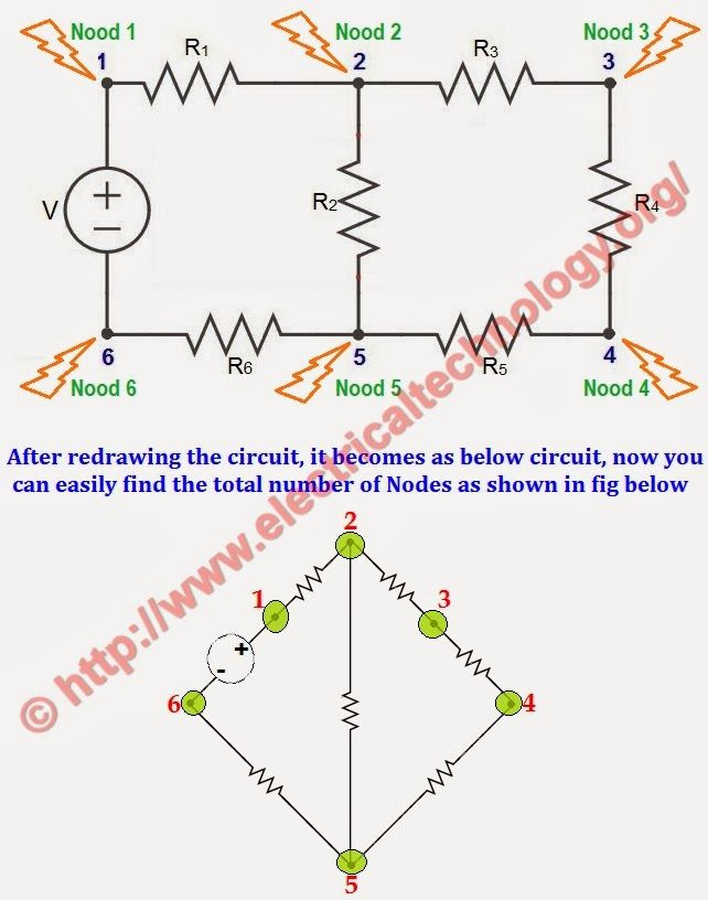 Finding Nodes in Electric Circuits