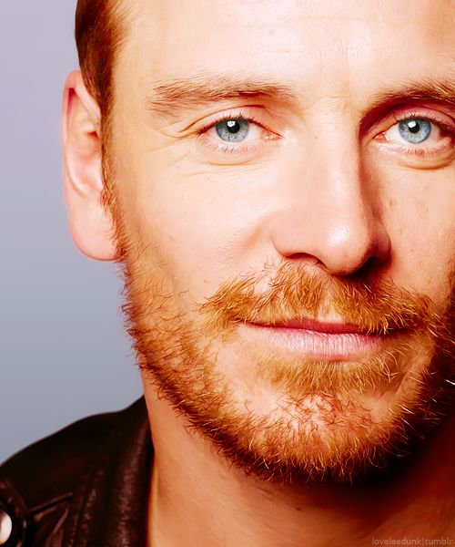 love his blue eyes and ginger hair....