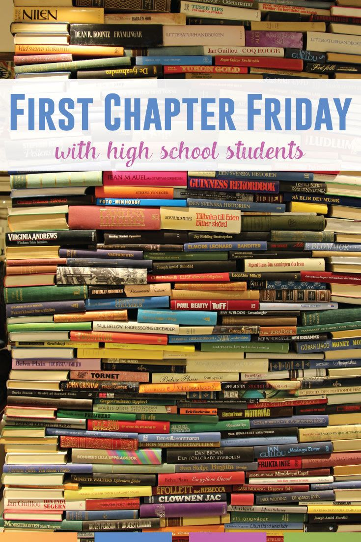 First Chapter Fridays with Secondary College students