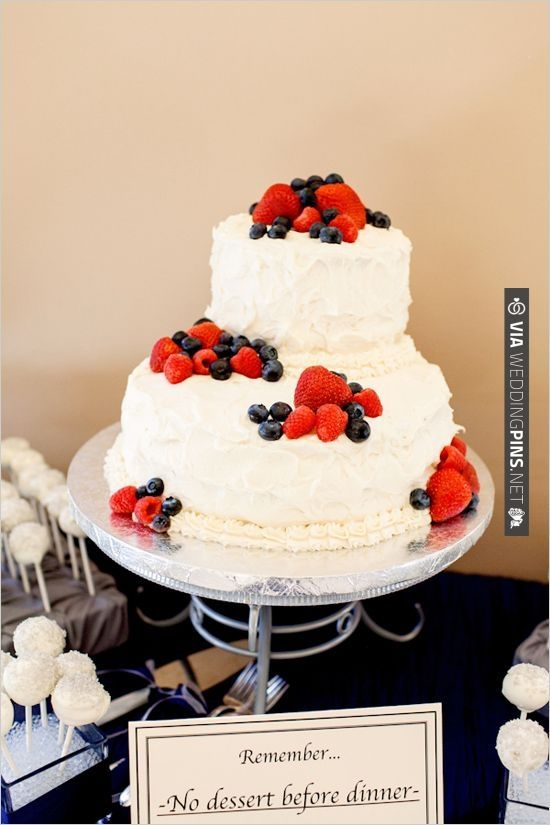 strawberry and blueberry cake from Bianchis Bake Shop | CHECK OUT MORE IDEAS AT WEDDINGPINS.NET | #weddings