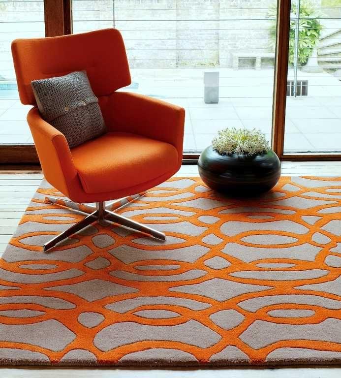 Matrix MAX37 Wire Orange Rugs | Modern Rugs