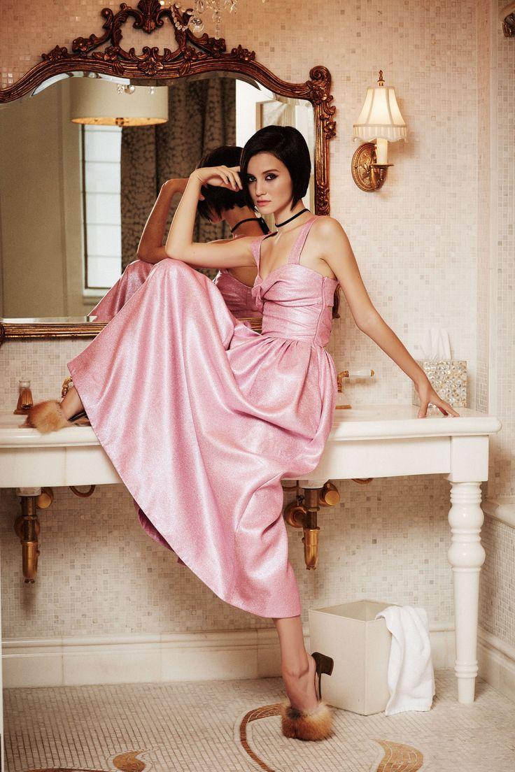 Party at The Plaza: Julia Goldani Telles Models the New Holiday Looks  - HarpersBAZAAR.com