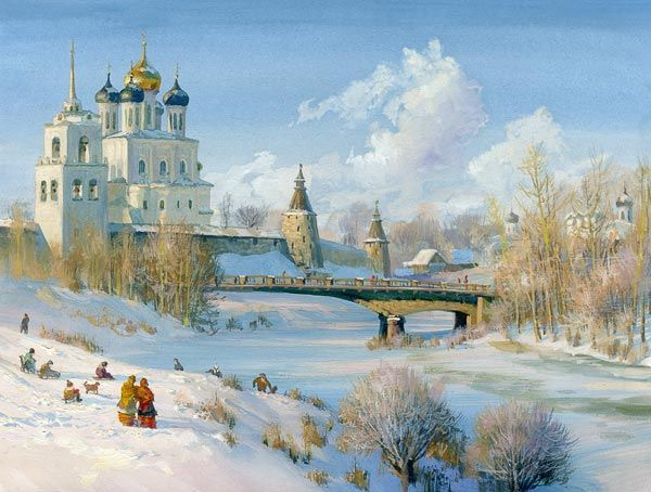 by Russian artist, Vladimir Zhdanov, Pskov