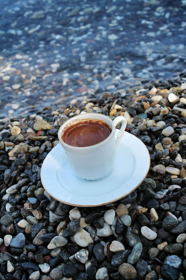 Открытка кофе море и любовь