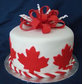 Sunday, July 1st is Canada Day!   What better way to celebrate our wonderful country's birthday than with cake?              And... strawb...