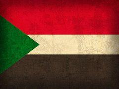 Sudan Flag Art - Sudan Flag Vintage Distressed Finish by Design Turnpike
