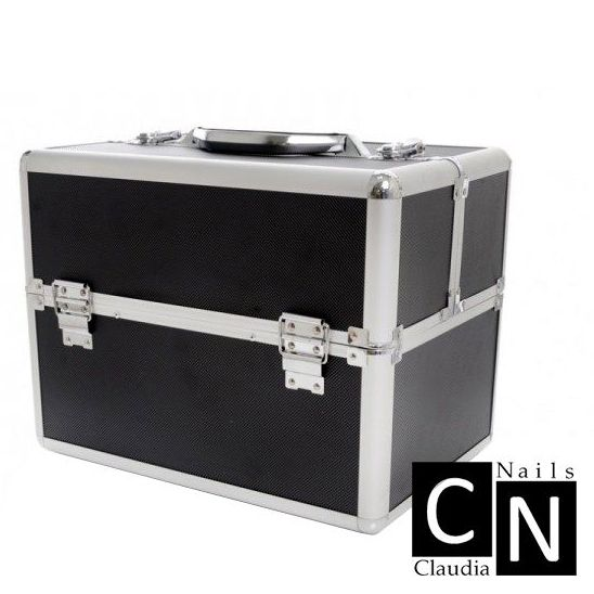 nagelkoffer nagelstyliste koffer beautycase zwart
