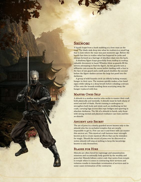 d&d 5e homebrew classes pdf