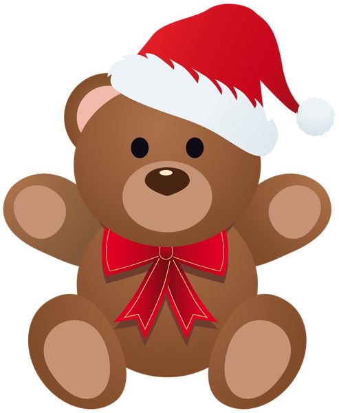 Christmas Teddy PNG Clipart Image
