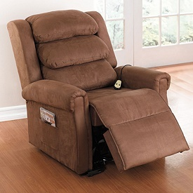 Extra wide power operated lift recliner living room furniture brylanehome for the home Extra large living room chairs