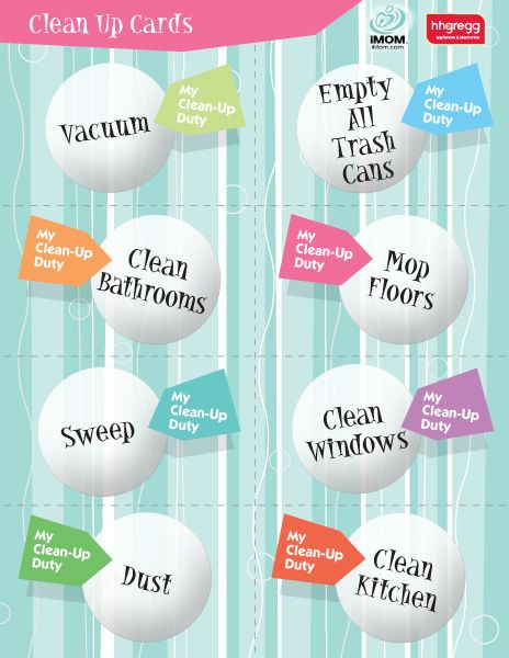 Clean-Up Cards | iMOM