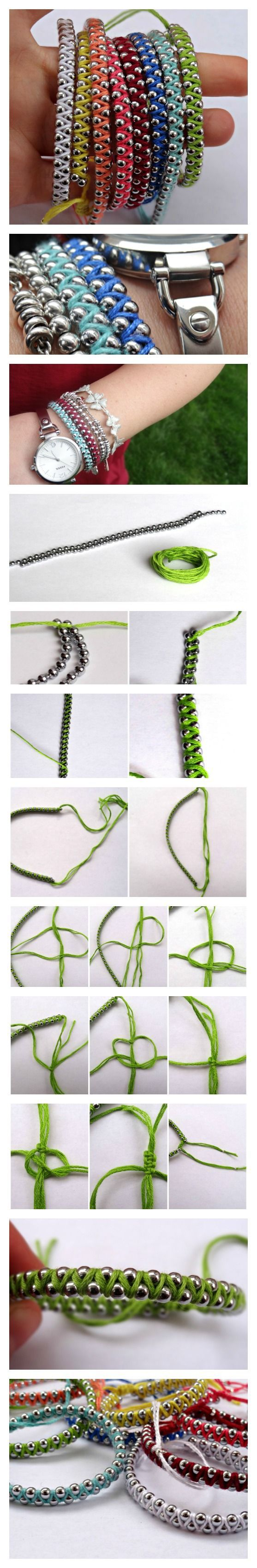 Wrap-style bracelet using ball chain, a fast little project  #handmade #jewelry