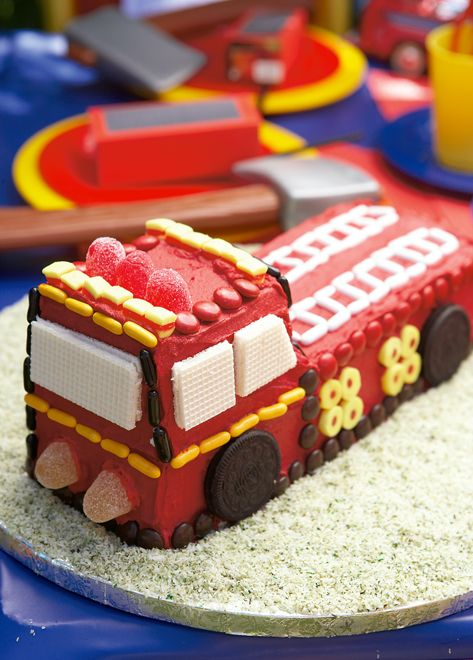 """Wee-oooo"" Fire engine cake for a 2nd birthday!"