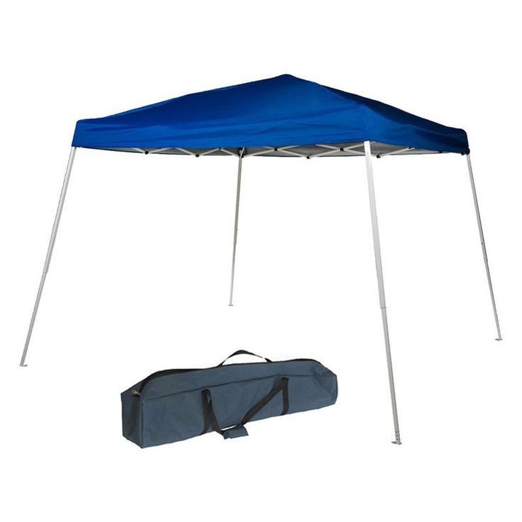 Abba Patio Commercial Grade 8 x 8 ft. Slant Leg Easy Pop Up Canopy with Carry Bag - APFGA88BL