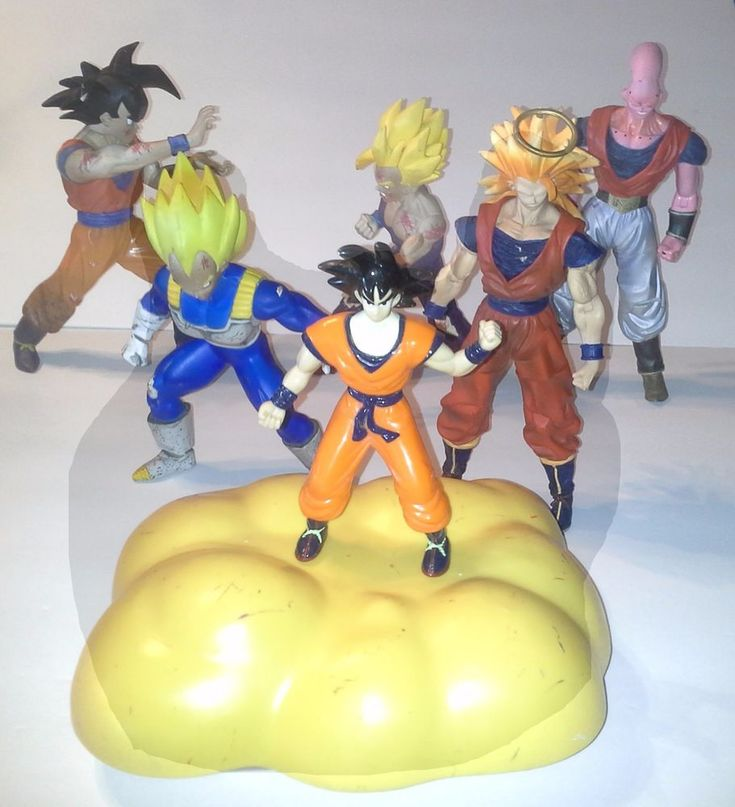 Majin Buu. Just added: Used Goku and his used Flying Nimbus! Super Saiyan 3 Goku, with halo, missing right hand. | eBay!