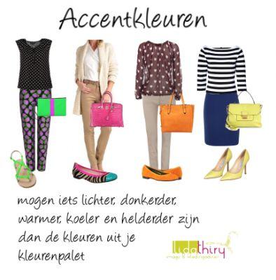 Accentkleuren kunnen je helpen om langer of korter te lijken   www.lidathiry.nl   klik op de foto voor de tips #accentkleuren