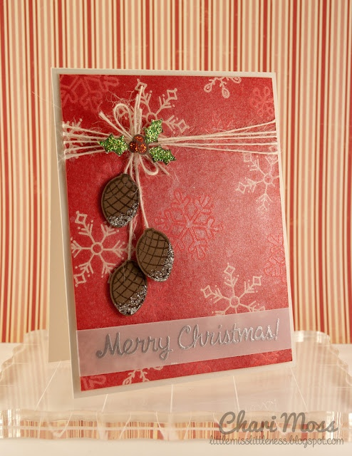 Card Making Ideas Using Vellum Part - 35: Embossing On Vellum, Wrapped To Back To Attach. Christmas CardsChristmas  CountdownChristmas IdeasWinter ChristmasChristmas ...
