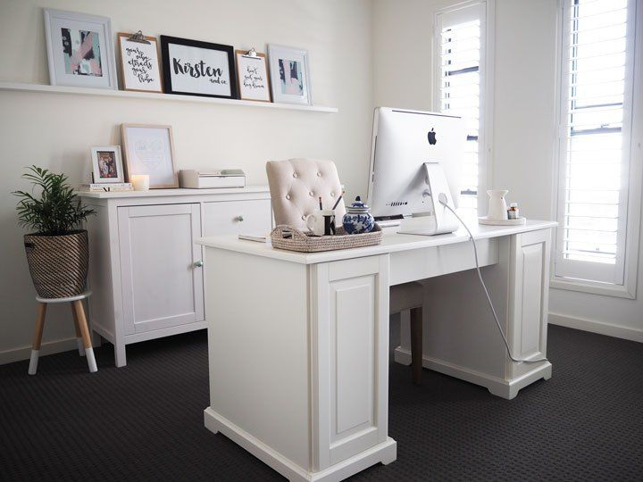 home office reveal kirsten and cos hamptons inspired home office reveal featuring liatorp desk from - Ikea Home Office