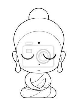 """Vinilos """"dibujando, artwork, antigüedad - monje budista de dibujos animados"""" ✓ Amplia selección de los materiales ✓ Ajustaremos el producto a tu medida ✓ ¡Comprueba las opiniones de nuestros clientes!"""