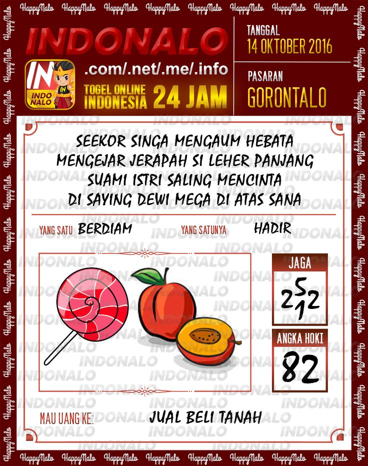 Agen SDSB Togel Wap Online Live Draw 4D Indonalo Gorontalo 7 Oktober 2016
