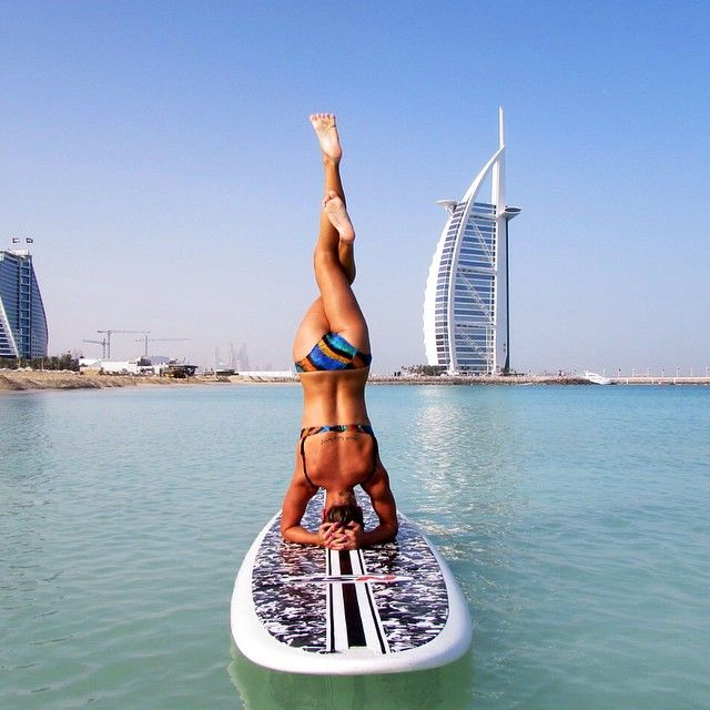SUP yoga in Dubai!!!  Klave's Marina has been serving the boating community on Portage Lake in Pinckney, MI for more than 50 Years! Call (734) 426-4532 or visit our website www.klavesmarina.com for more information!