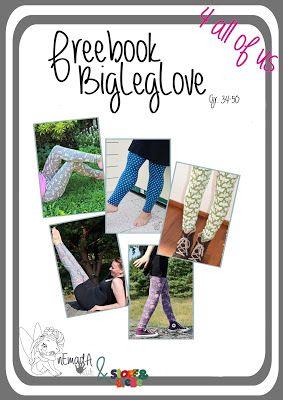 nEmadA: Big Leg Love Größe 34-50, jede Menge Freebooks, Kleidung und sommerliches Kopftuch, nähen, Schnittmuster, Anleitung