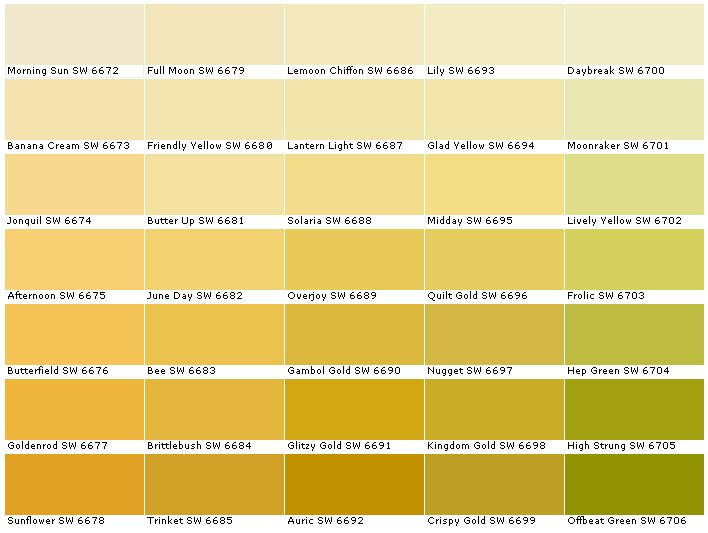 Sherwin williams sw6672 morning sun sw6673 banana cream - Sherwin williams exterior paint colors chart ...