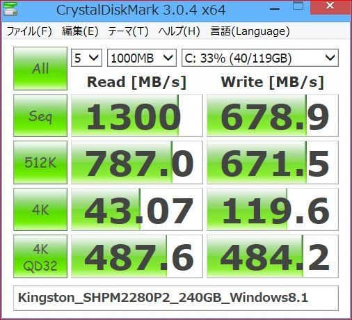 価格.com - 『OS入り』キングストン HyperX Predator PCIe SSD SHPM2280P2/240G 夏のひかりさんのレビュー・評価投稿画像・写真「Z87、MBR、AHCI、クローンの条件でOS起動できるか?」[238126]
