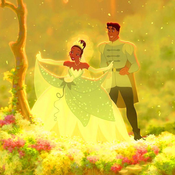 Princess tiana prince naveen the prince the frog for Princess tiana wedding dress
