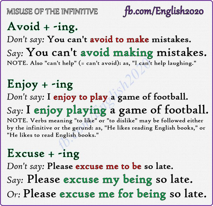 Common Mistakes In English - Misuse of the Infinitive