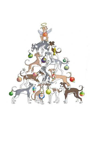greyhound christmas tree