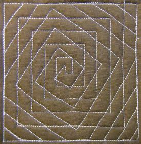 Free Motion Quilting simple patterns