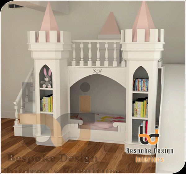 Luxury princess castle bed by luxurykidsfurniture on etsy for Princess castle bedroom ideas