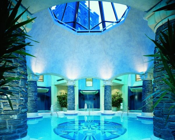 My happy place: the Willow Stream Spa at the Banff Springs Hotel.