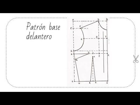 Curso gratis de corte y confección. Patrón base delantero. | Lovely And Creatiful