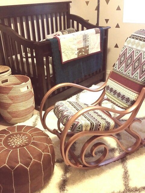 Boho bentwood rocker for baby girl nursery!