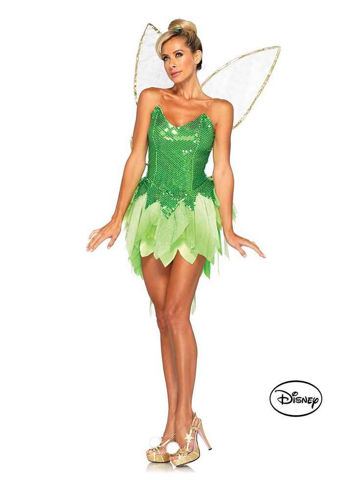 Peter Pan's Pixie Dust Tinker Bell Deluxe Costume | Cheap Disney Costumes for Adults