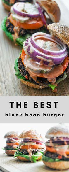 The Best Black Bean Burger | This Healthy Table #healthy #recipeideas #blackbeans