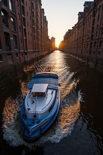 Hamburg Fleet Abendstimmung