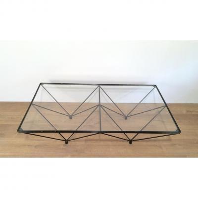 Paolo Piva. Table Basse En Métal Laqué Noir.                              …