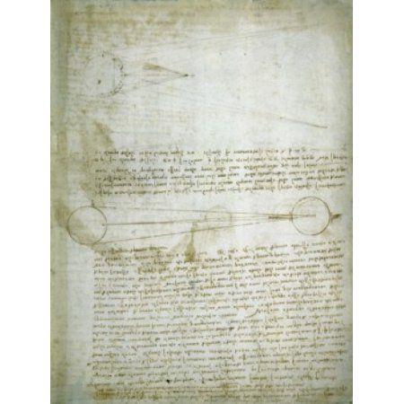 Codex Leicester The Changing Earth Leonardo da Vinci (1452-1519Italian) Drawing Armand Hammer Foundation Los Angeles Canvas Art - Leonardo da Vinci (24 x 36)