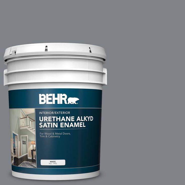 Behr 5 Gal N530 5 Mission Control Urethane Alkyd Satin Enamel Interior Exterior Paint Exterior Paint Behr Concrete Coatings
