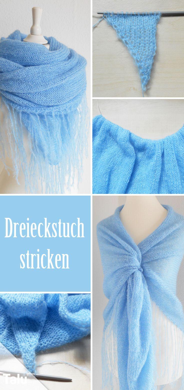 Kostenlose Anleitung - Dreieckstuch stricken - Talu.de