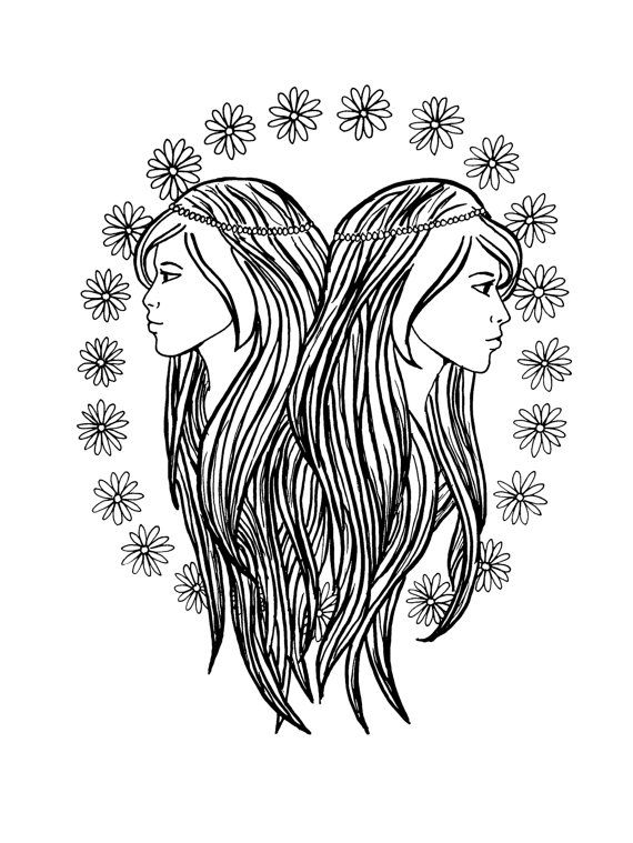 Gemini by PrintsbyJessie on Etsy Astrology Pinterest