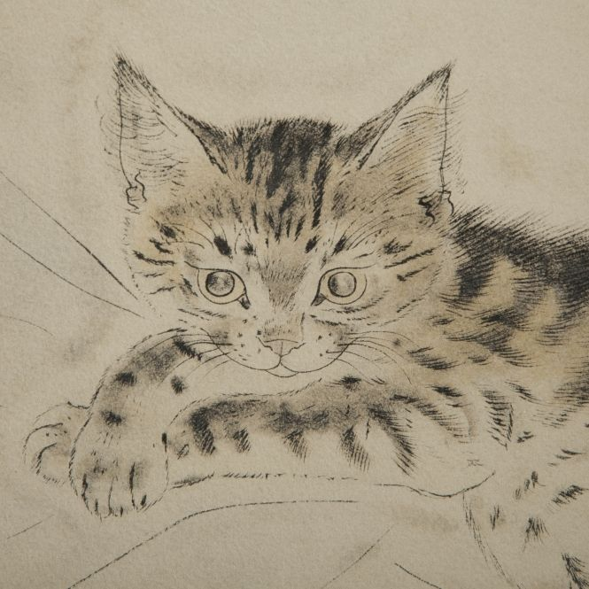 Léonard Tsuguharu Foujita. Kitten trying to be Good.