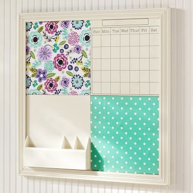bulletin board Do something like this for the existing board in the kitchen!