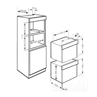 Forno micro ondas smeg de embutir 34 litros inox 60cm center garbin love pinterest kitchens - Microondas de encastrar ...