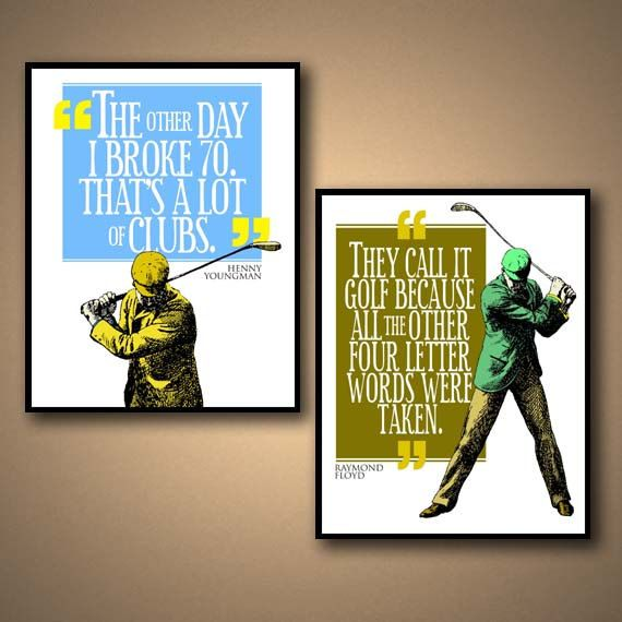 GOLF Sports Quote Poster COMBO PACK by ManCaveSportsSigns on Etsy