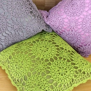 cojines. Crochet lace pillows. #pillow #crochet #lace